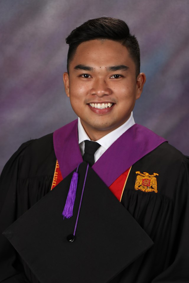 Reiven John Borbon Bernales from University of San Agustin in Iloilo City, aced the September 2019 Medtech board exam