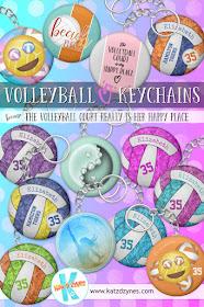 Girls' volleyball keychains