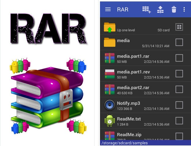 Download RAR For Android v5.50 Build 45 Terbaru