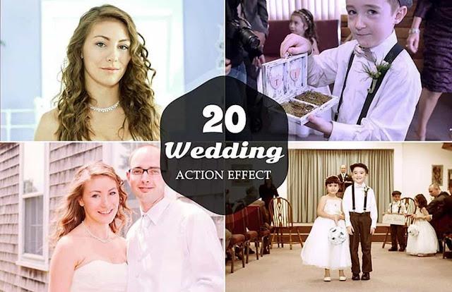 20 Photoshop Actions Wedding Free