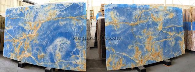Blue Marble Onyx Polished
