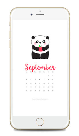 September 2017 Calendar Wallpaper Freebie