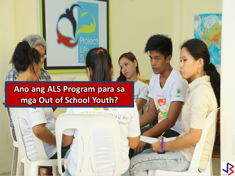 What is Alternative Learning System or ALS? Because every Filipino has the right to free basic education the government establishes a learning program that provide all Filipinos a chance to complete their basic education  Learning Program for illiterates: Basic Literacy Program (BLP) LEarning Program for dropouts of formal Elementary and Secondary Levels: Continuing Education: Accreditation and Equivalency (A&E) Program  Learning Program for Indigenous Peoples: Indigenous Peoples Education  LEarning program for Arabic Language and Islamic Values Education  in Alternative Learning System (ALIVE in ALS) Learning Program for Hearing Impairment: Alternative Learning System for Differently-Abled Persons (ALS-DAP)  Learning Program for Adolescents: Adolescent Reproductive Health (ARH)  Learning Program for Parents: Parent Education  Learning Program for Poor Families: Family Basic Literacy Program (FBLP) Learning Program for Disadvantaged Children: Informal Education for Disadvantaged Children