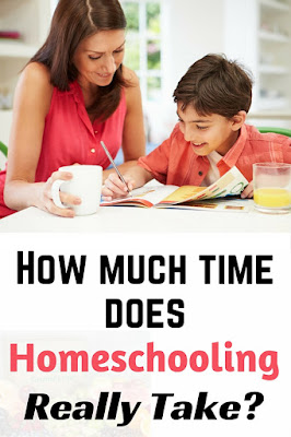 Are you afraid homeschooling will take too much time? You'll be surprised at how much time it REALLY takes! #homeschool