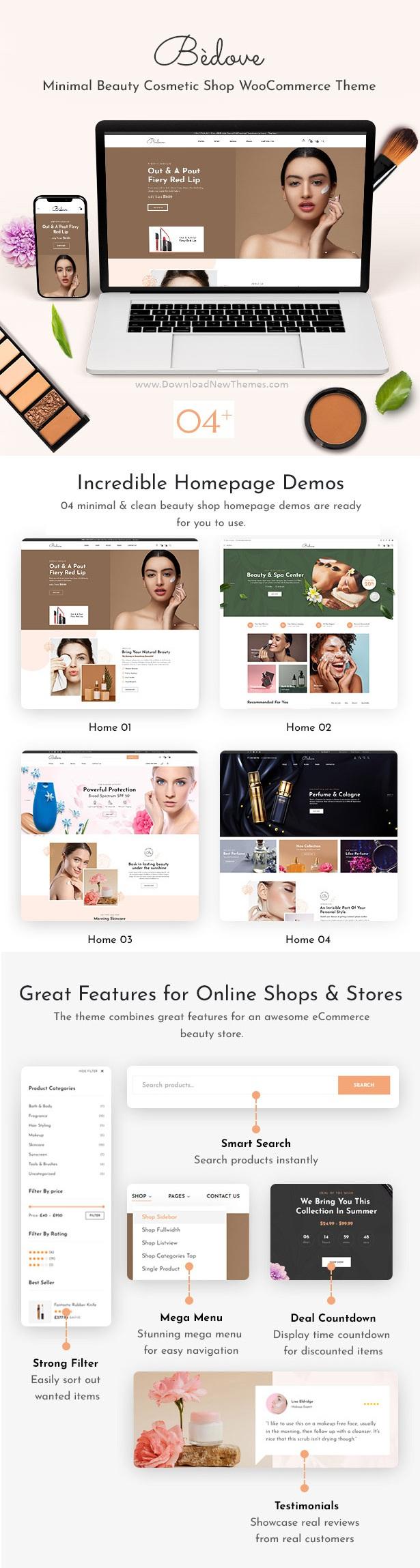 Beauty & Cosmetics Shop WordPress Theme