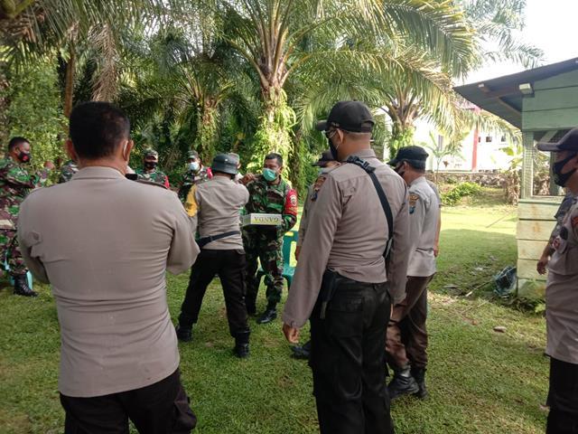 Kunjungan Forkopimca Dalam Rangka HUT TNI Ke-76 Di Makoramil 20/Sindar Raya Jajaran Kodim 0207/Simalungun