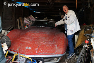 This 1968 Corvette has been parked in seclusion most of its life in a rickety barn in north Alabama.