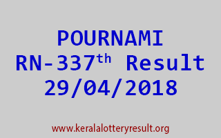 POURNAMI Lottery RN 337 Result 29-04-2018