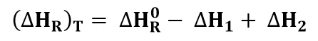 Calor de reacción a temperaturas no estándar