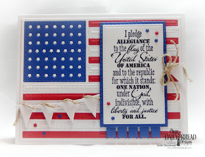 Our Daily Bread Designs Stamp Set: Justice For All, Custom Dies: USA Flag, Pierced Rectangles, Double Stitched Rectangles, Pennant Row, Bitty Borders