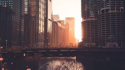 Plano de Fundo Pôr do Sol na Cidade