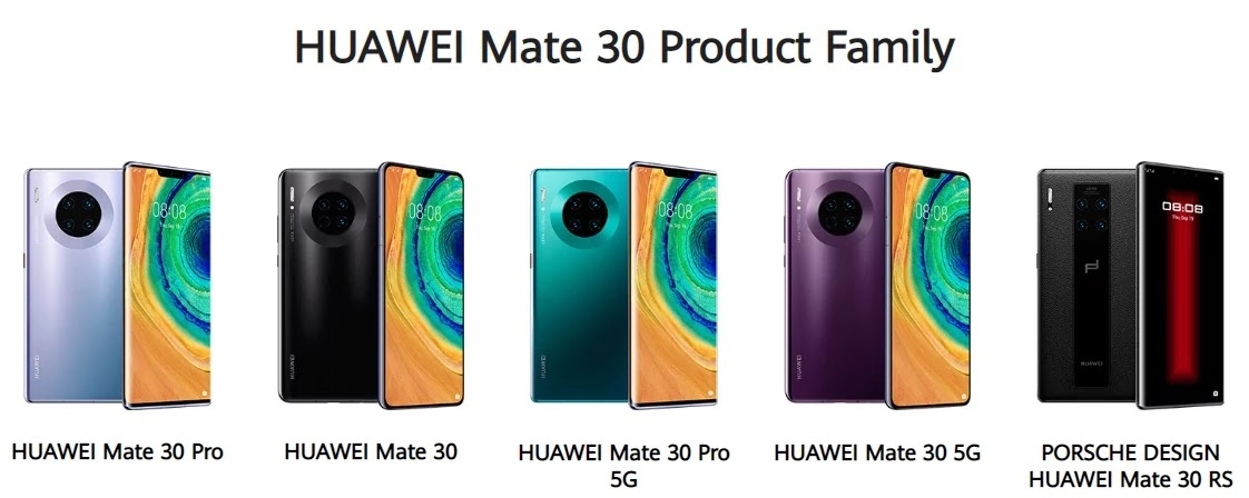 Huawei Mate 30 Series Family
