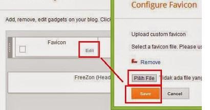 cara memasang favicon di blogger