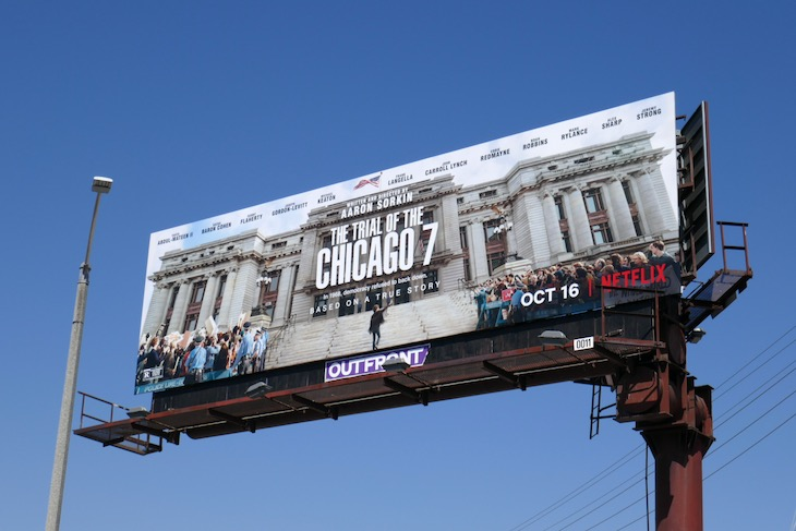 Trial of the Chicago 7 movie billboard