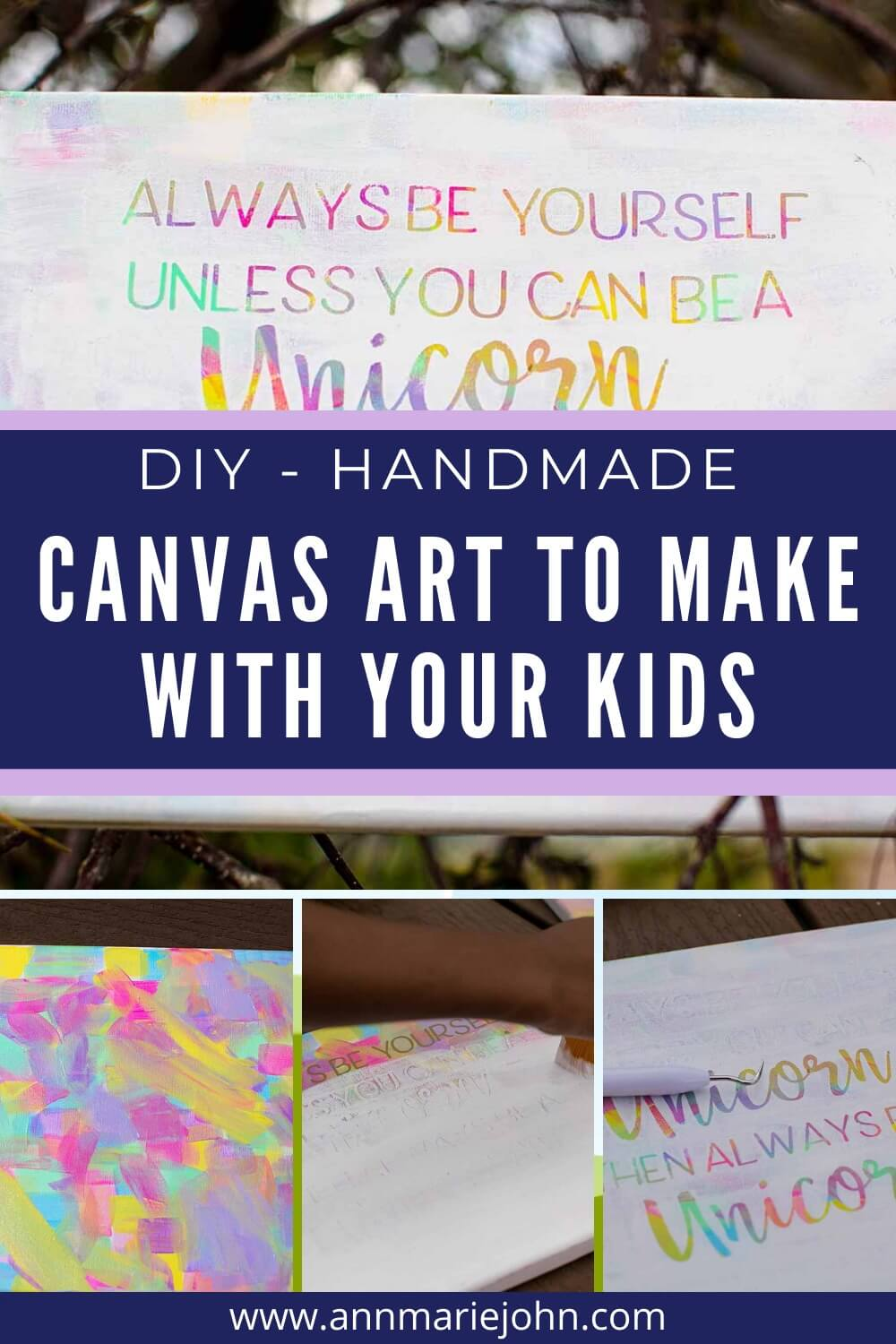 DIY Handmade Canvas Art to Make With Your Kids