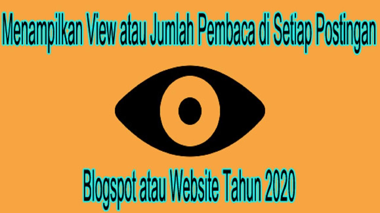 view setiap postingan blogspot