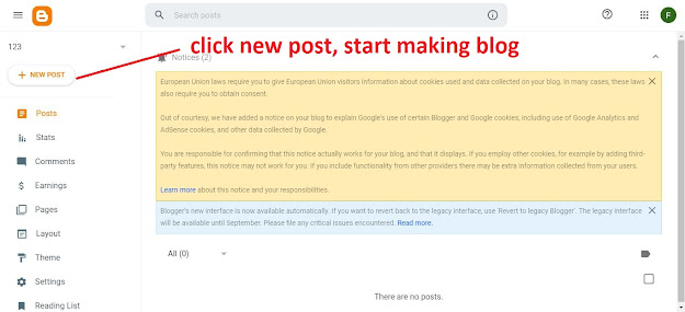 How To Get Blogger Website or Free Blog Site | Information Technology APB