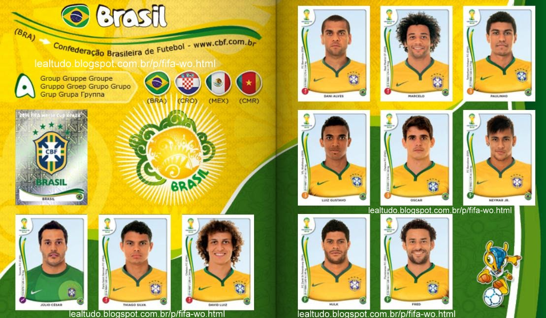 Album BRASIL Fifa World Cup BRAZIL 2014 LIVE COPA DO MUNDO Sticker Figurinha Download Lealtudo