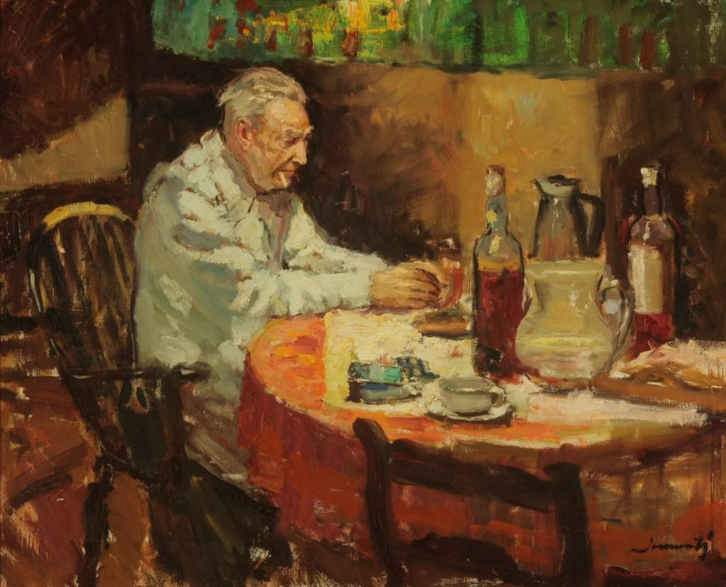Joan Marti Aragones Retrato Josep Pla