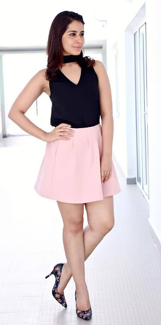 Raashi Khanna Latest Pictures in Pink Skirt Actress Trend
