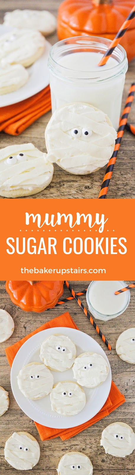 These adorable mummy sugar cookies are so easy to make, and perfect for celebrating Halloween!