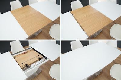 dizajnový nábytok Reaction, jedálenský nábytok, rozkladacie stoly