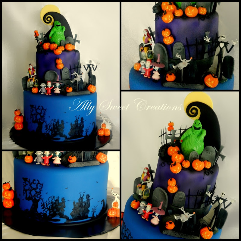 Ally Sweet Creations Nightmare Before Christmas Theme Cake