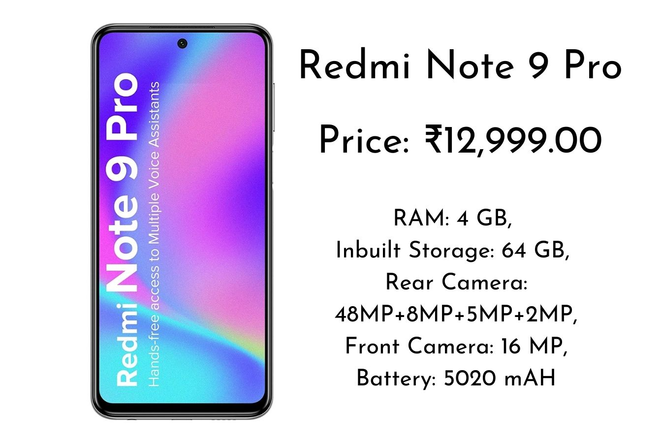 Xiaomi Redmi Note 9 Pro price and specification - Buy on Amazon