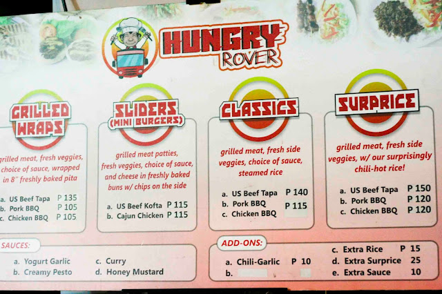 Hungry Rover Menu