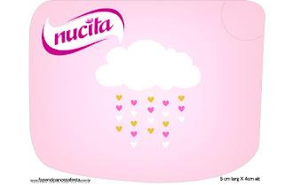 Etiqueta Nucita de Lluvia de Bendiciones para Nena para imprimir gratis.