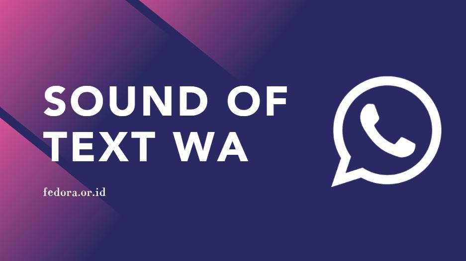 sound of text wa suara natural dan robot