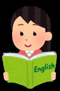 英語を学ぶ人のイラスト(女性)