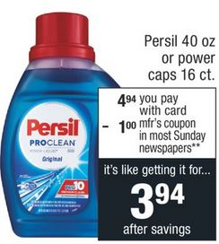 FREE Percil Detergent CVS Deal 8-18 8-24