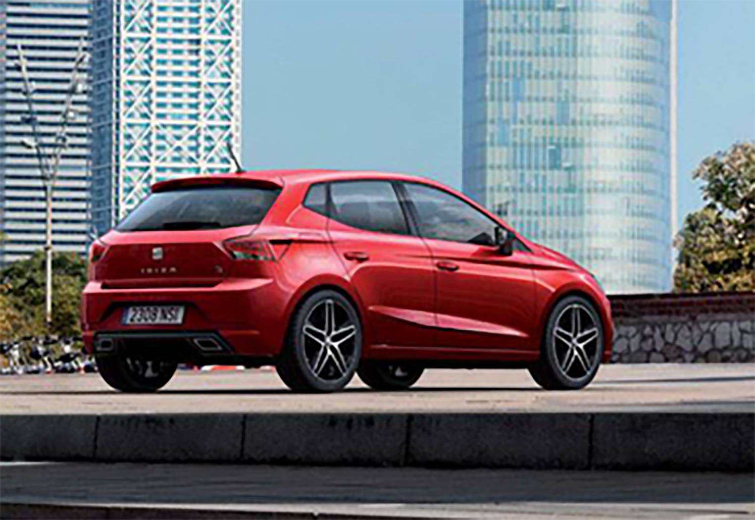 new seat ibiza looks like first official photos leaked carscoops. Black Bedroom Furniture Sets. Home Design Ideas