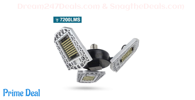 50%OFF Deformable 7200LM Super Bright LED Garage Light