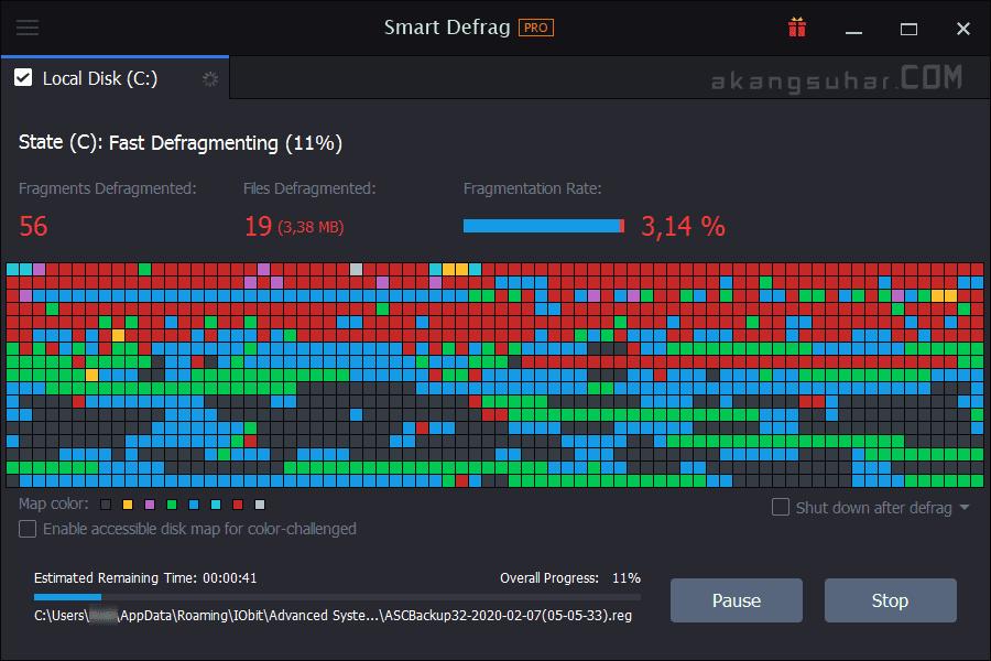 Gratis Download IObit Smart Defrag Pro Full Crack Terbaru
