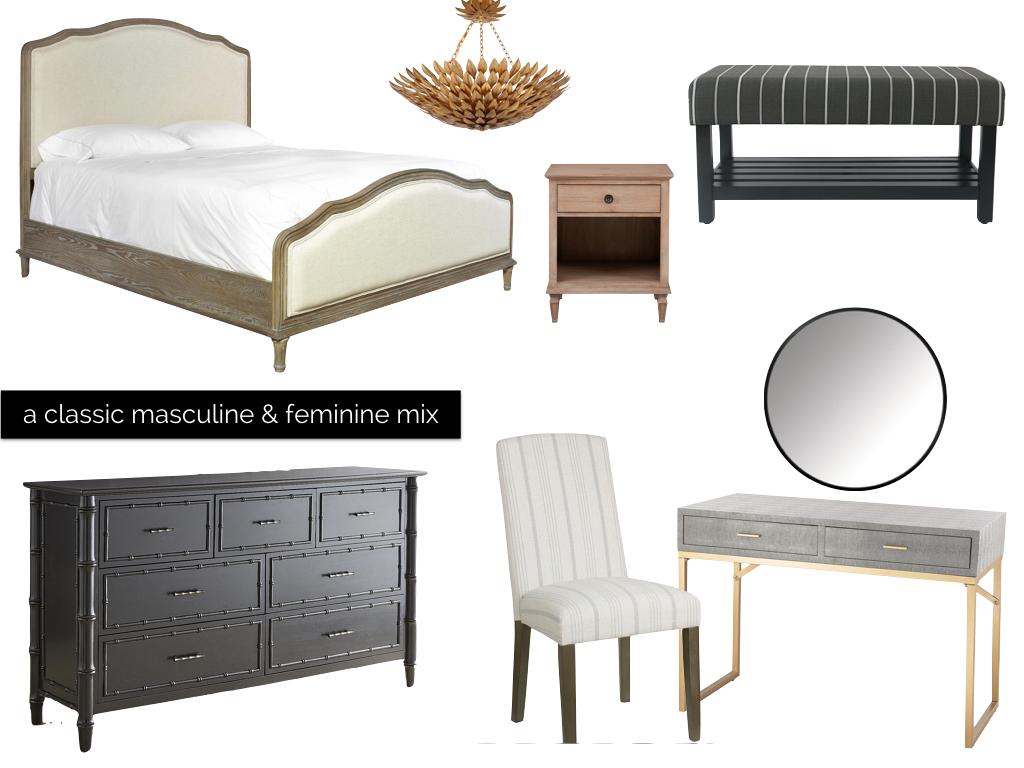 classic masculine master bedroom