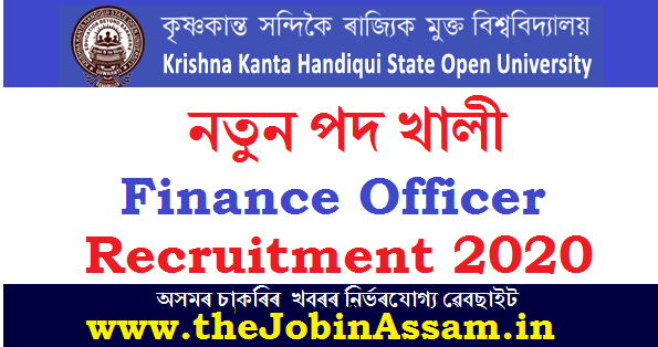 KKHSOU Recruitment 2020