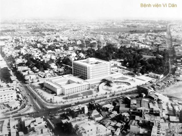 Bệnh viện Bình Dân hay còn gọi là bệnh viện Thống Nhất nhìn từ trên cao