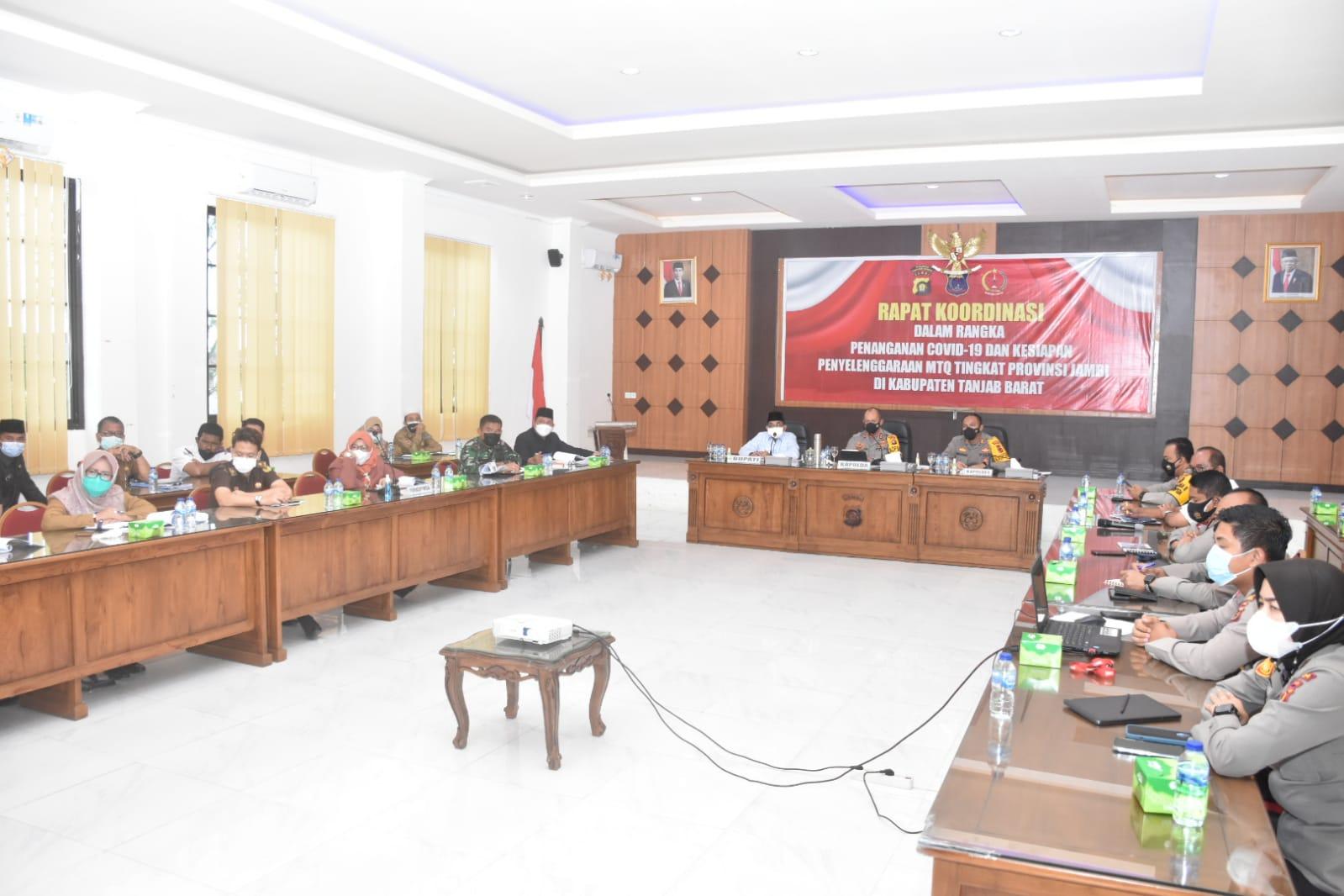 Kunker Kapolda Jambi ke-Polres Tanjabbar Dalam Rangka Penangan Covid-19 dan Kesiapan Kegiatan MTQ Ke-50 Tingkat Provinsi Jambi