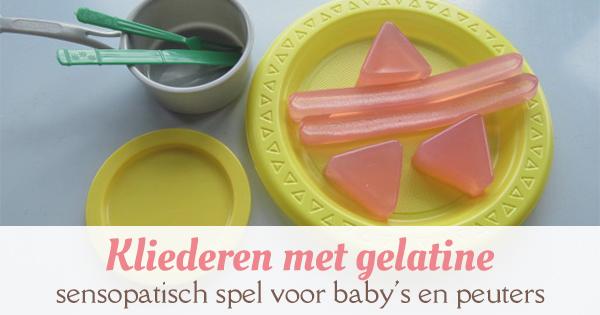 sensory play gelatine