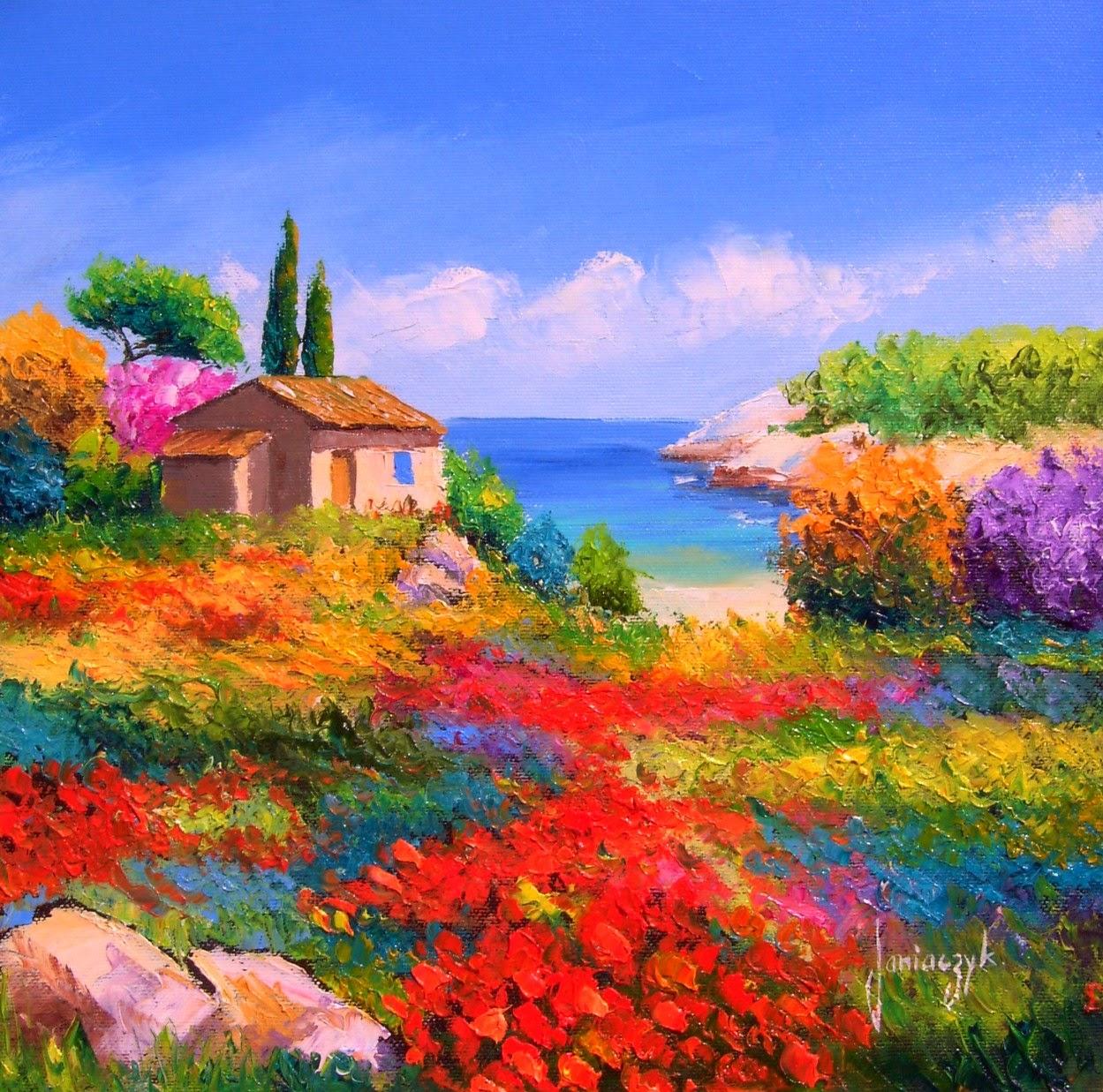 Imagenes Arte Pinturas Paisajes Con Flores Pinturas Decorativas En