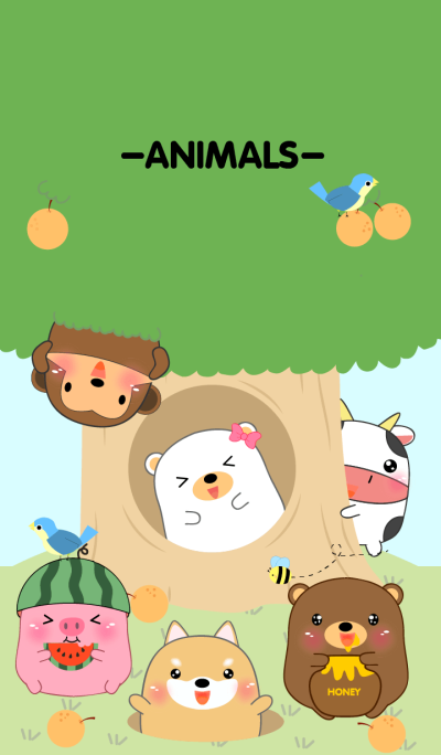 Home Animals On Tree theme V.2