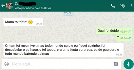 Flagras do whatsapp