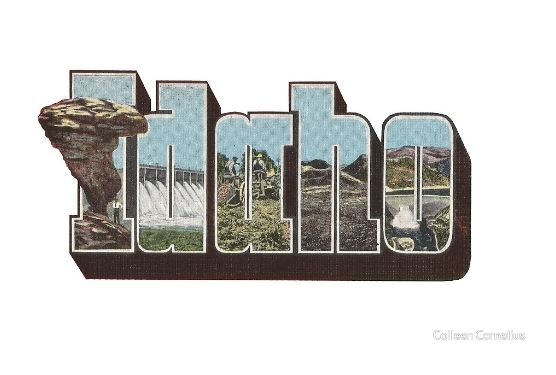 Idaho Vintage Big Letter