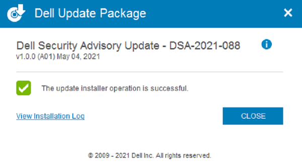 Dell Update Package– DSA-2021-088,UTILITY