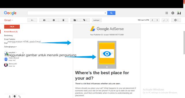 mengirimkan email yang mengundang klik langganan anda