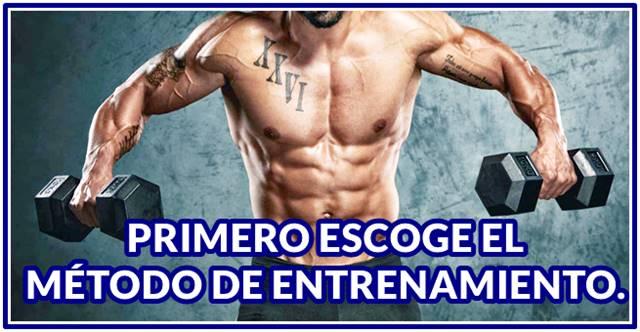 Métodos de entrenamiento para ganar masa muscular