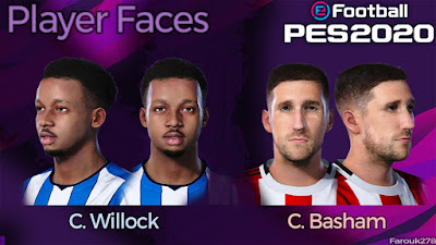 PES 2020 Faces Chris Willock and Chris Basham by Farouk