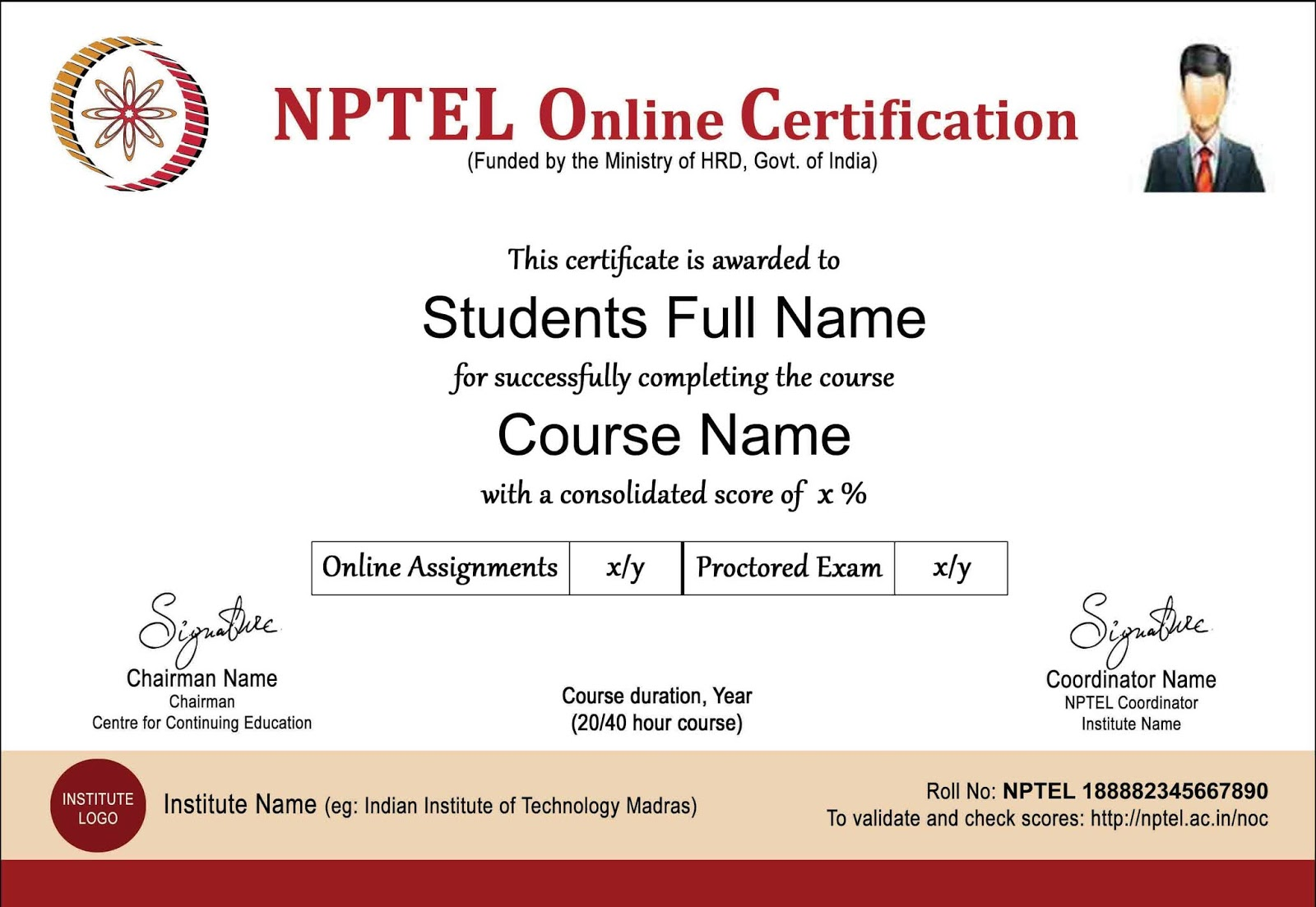 Nptel Certificate